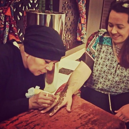 Traditional Henna Painting