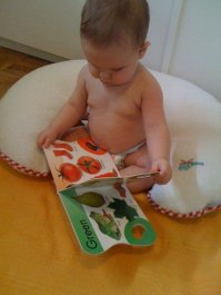 J at six month old reading