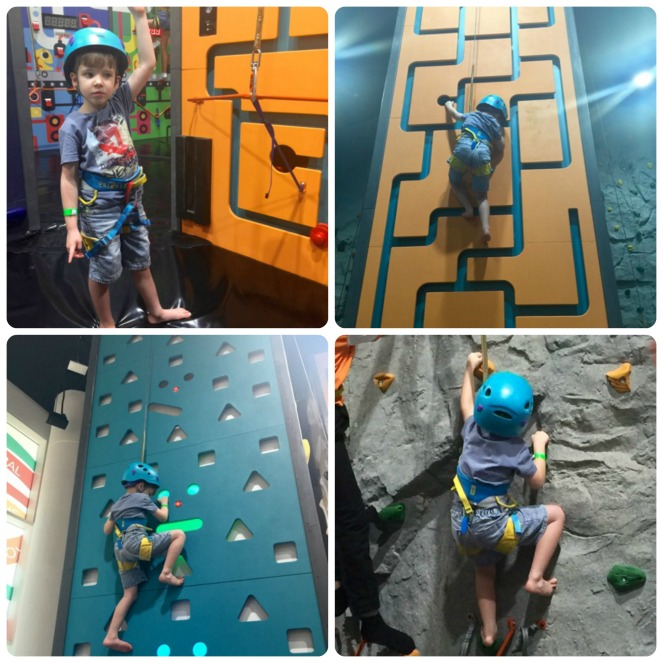 Orange Wheels Climbing Wall