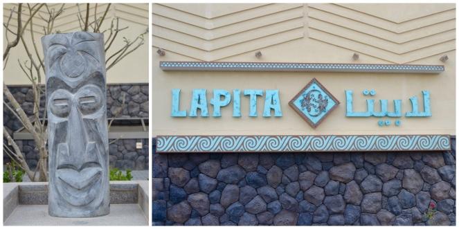 Lapita Hotel entrance decor