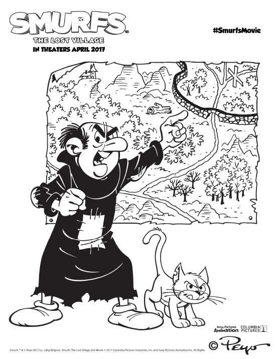 Gargamel and the map