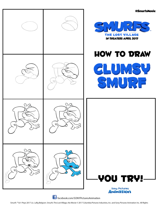 how to draw clumsy