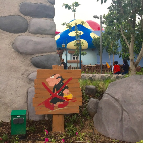Entrance to smurfs village