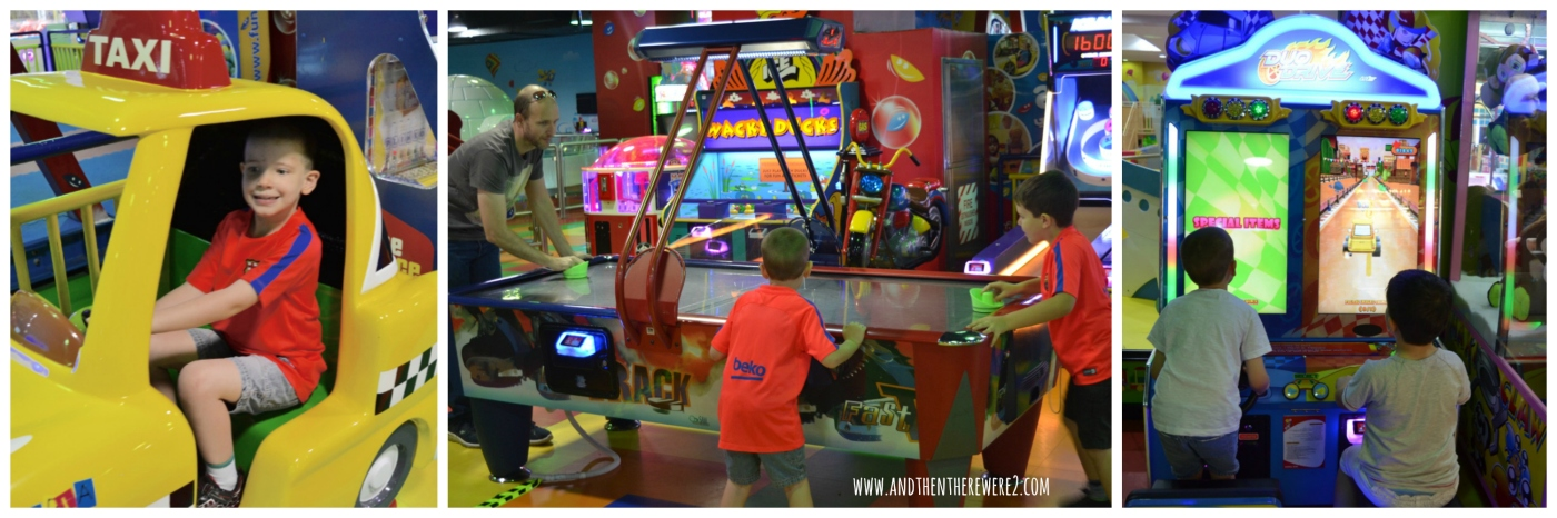 Having fun in the Fun City Arcade