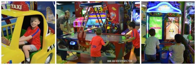 Having fun in the Fun City Arcade