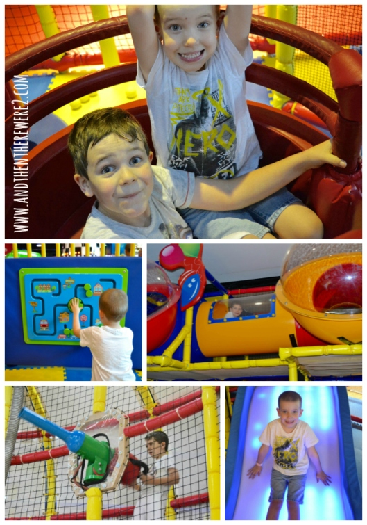 Boys having fun at the Fun City Soft Play area