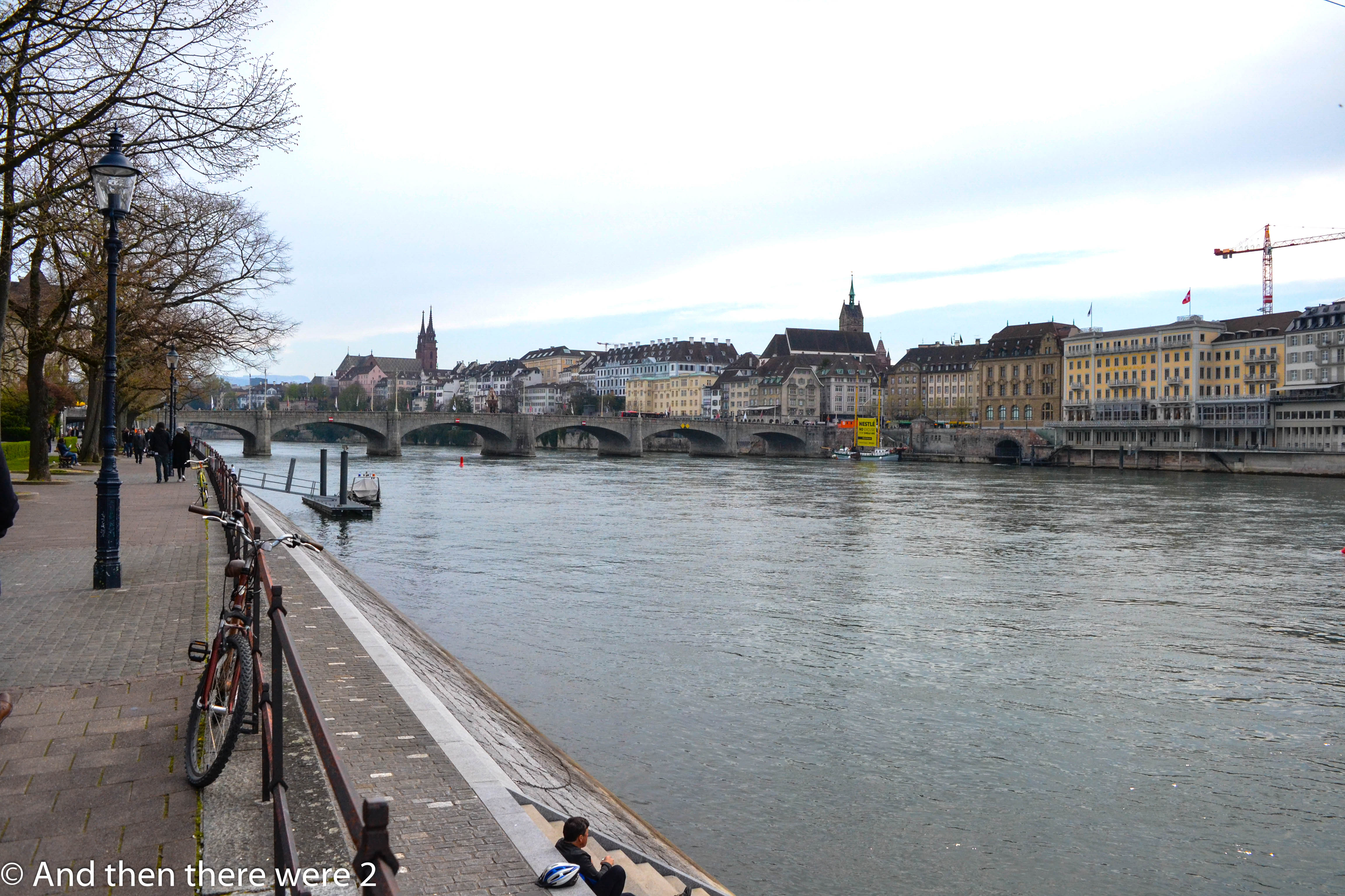 Basel on the banks of the Rhine river